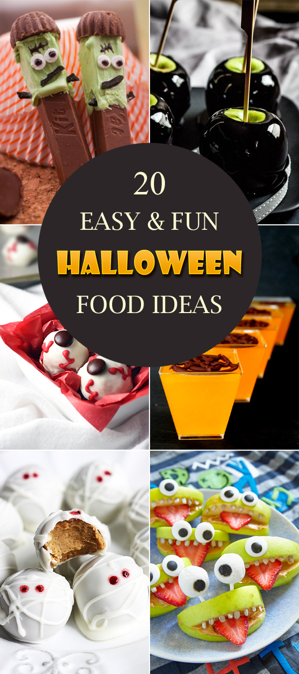 20 Easy and Fun Halloween Food Ideas